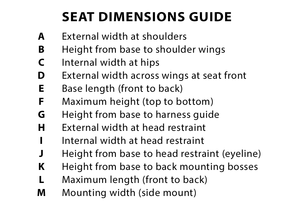 Seat Dimension Guide